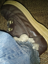 Ice on the shoes
