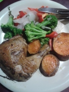 Yes I am pretty consistent on the meat and potatoes. But I had Red Peppers this time...:-)