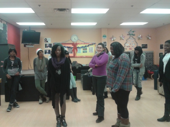 The Young Ladies working through discussions on Healthy Relationships...