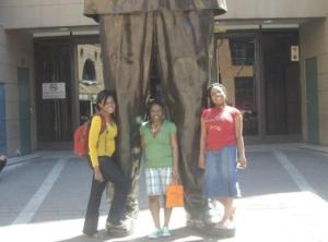 Rightly we stood small at his feet! (TBCs  at Nelson Mandela Square in Sandton, Johannesburg)